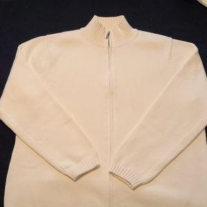 L.L.Bean knitted zipper front cardigan mock neck